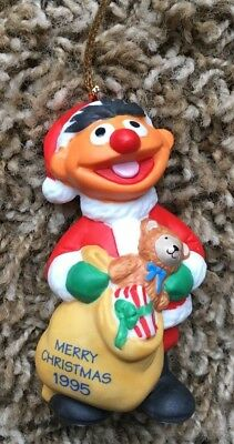 GROLIER SESAME STREET ERNIE Porcelain Ornament dated 1995