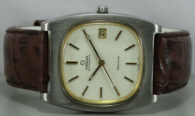 Vintage Omega Geneve Automatic Date Swiss Mens Wrist Watch r217 OLD Used Antique