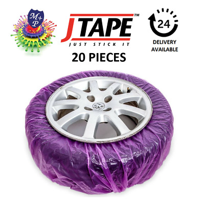 Jtape Alloy Wheel Paint & Repair Elasticated Mask Tyres 20 Per Bag,170cm x 170cm