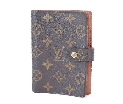 Authentic LOUIS VUITTON Monogram 6 Ring Agenda Address Book Cover #31039