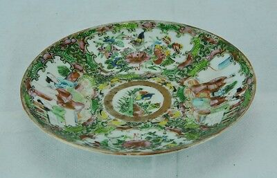 Antique 1800's Chinese Qing Dynasty Rose Medallion plate. (BI#MK/0217.TMP)