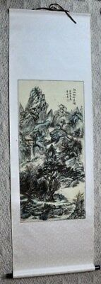 "Vintage Chinese scroll 71"" x 22"" signed and inscribed. (BI#MK/180624)"