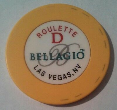 Bellagio Casino Las Vegas, Nv. Table D Yellow Roulette Chip Great For Collection