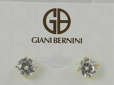 a7abe193486820 Giani Bernini 18K Gold over Sterling Silver Cubic Zirconia Stud Earrings 6mm