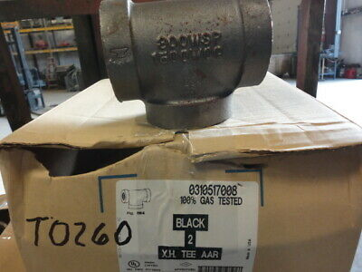 "Malleable Iron Threaded Fitting Tee ANVIL 2"" 300 WSP 1500 WOG BMI"