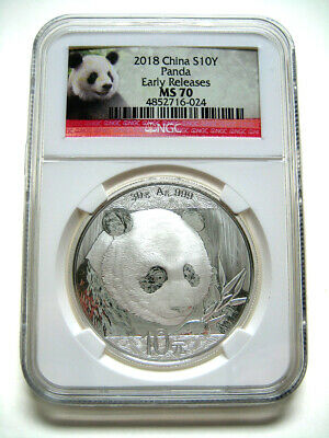 2018 China Silver Panda (30g) S10Y - NGC MS70 - Early Releases - VERY NICE #024