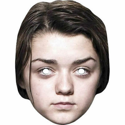 Maisie Williams Celebrity Arya Stark in Game Of Thrones Card Mask Pre-Cut Masks