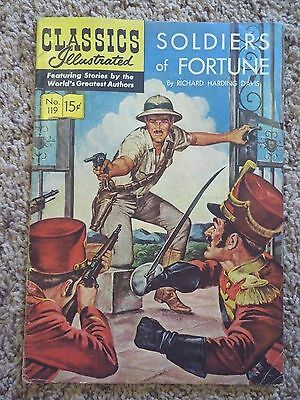 Vintage Classics Illustrated #119 [O]- Soldiers of Fortune (May 1954, Gilberton)
