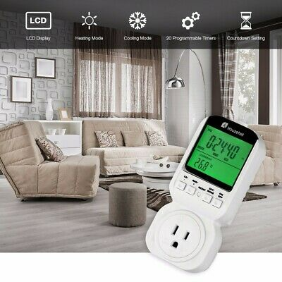 Smart Multifunction Thermostat Digital Programmable Timer Socket Switch 4 Modes