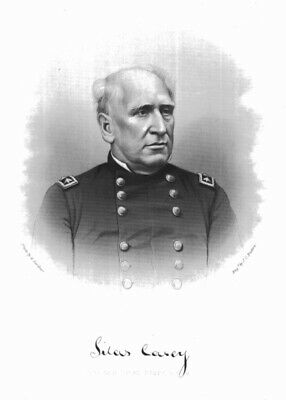 GENERAL SILAS CASEY, Pearce, Gordon, antique engraving