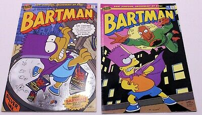 W/Giant Pull Out Poster Inside BARTMAN #1 W/FOIL COVER Bongo Comics 1993