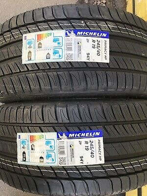 2x 245/40 R19 Michelin Primacy HP 94Y (*), ZP, RunFlat Brand-New