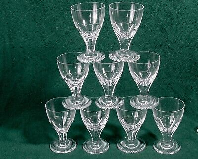 Vintage  Set 9 of Rare cut crystal wine or water Goblets