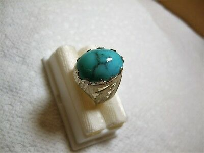 Natural Native Persia Turquoise 925 Silver ring 7.40-gm sizes us:9.5