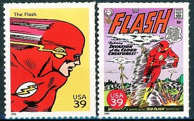 The Flash - Complete Set of 2 Scarce MNH US Postage Stamps Scott's 4084f & 4084p