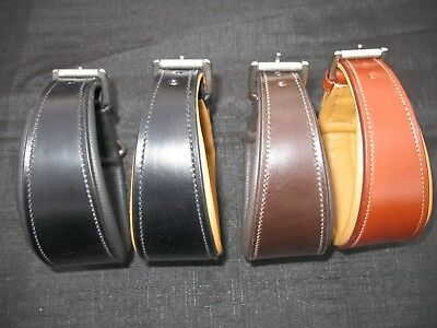 Italian Leather Whippet/Greyhound/Lurcher Comfort Collars