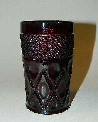 Imperial Glass Co. CAPE COD Red 10 oz. Flat Tumbler, 1932-1936 NICE!