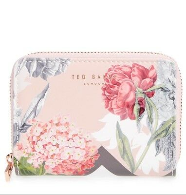 12d3cb08f0c6 TED BAKER WOMEN Palace Gardens Patent Leather Travel Wallet Dusky ...