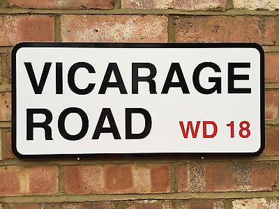 Watford Fc Vicarage Road Street Sign Perfect Birthday Gift For The Watford Fan