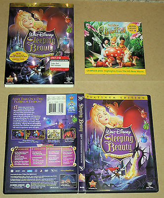 Sleeping Beauty (DVD, 2008, 2-Disc Set, Platinum Edition) Target Exclusive