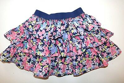 Next- Vintage Floral Blue Soft Cotton Casual Tutu Skirt- Girls 4 Years