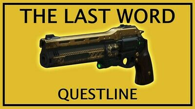 Destiny 2 - LAST WORD QUEST - 100% Completion [ PS4, PC, XB1 ] 5KD Sherpa