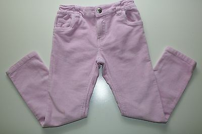 Denim Co - Pink Soft Elastic Cotton Casual Skinny Trousers - Girls 5 - 6 Years