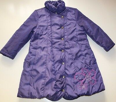 Feraud- French Designer - Purple Floral Lightweight Quilted Coat Girls 5-6 Years