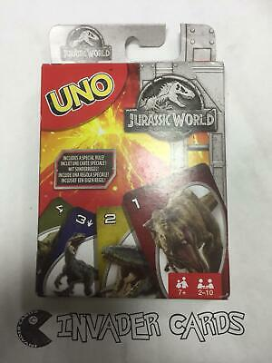 Uno Jurassic World Card Game Mattel Includes Special Rule Edition Pack New Box
