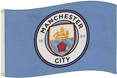 Manchester City Fc Large Prem Champions Football Club Mast Flag Official Mcfc