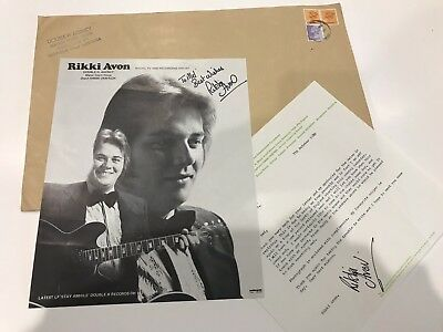 RIKKI AVON Stay Awhile Signed Autograph 1980 Country Singer