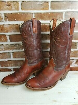 4aa1523d1a2 ACME VINTAGE COWBOY Boots Men's Size 9 D Brown Leather Made in USA ...