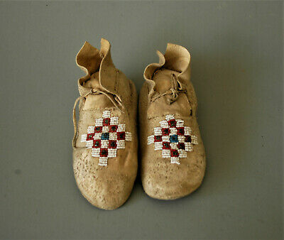Vintage Beaded Childs Indian Moccasins