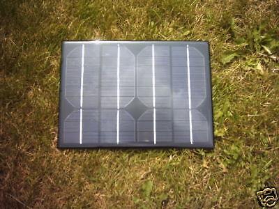 12V Charging 5 Watt Resin Solar Panel With 5M Cable Diode For Car,Caravan Etc