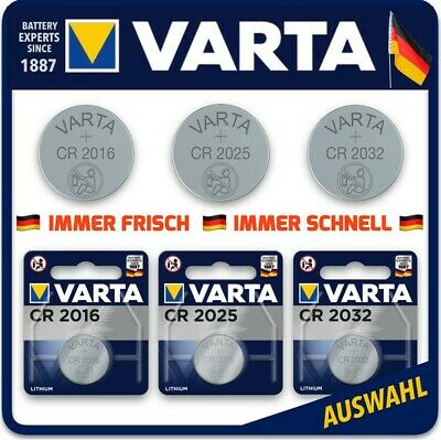 VARTA High-Tech Lithium Knopfzellen CR2016 l CR2025 l CR2032  1er Blister l Bulk