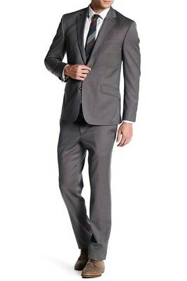 Kenneth Cole New York Slim Fit Two Button Notch Lapel Wool Suit $650