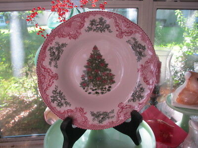 Johnson Bros OLD BRITAIN CASTLE SOUP RIMMED BOWL CHRISTMAS THEME  England 1883