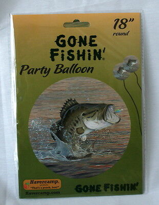 Fish Bass Fishing Outdoors Lake Happy Birthday Party Balloon 225