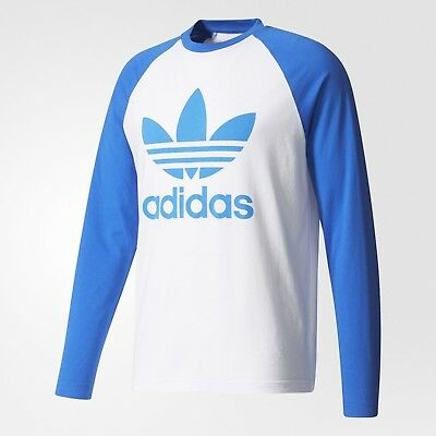 Details about LARGE adidas Originals Classic Men's Trefoil LONG SLEEVE TEE Cotton Gray 1AVL