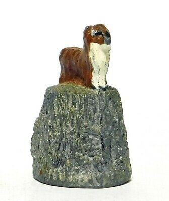 Hand Painted Stephen Frost Pewter Thimble Yorkshire Terrier Dog Topper