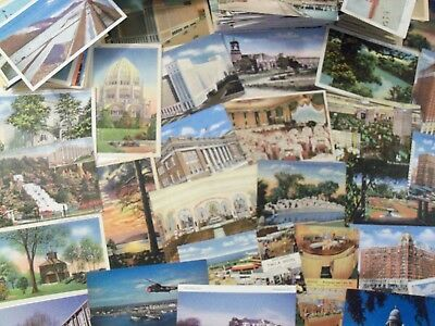 32 POSTCARD LOT RANDOM SELECTION OF UNDIVIDED BACK TO CHROME c.1901 TO1970's PC