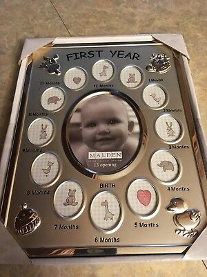 NEW First year baby photo frame