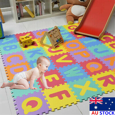Baby Children's Crawling Puzzle Mat Soft Foam Kids Carpet  Alphabet Number Fruit