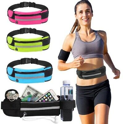 Running Bum Bag Fanny Pack Travel Waist Money Belt Zip Hiking Pouch Wallet US