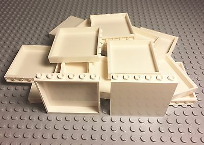 Lego 50 Pieces New Bulk Lot White Panel 1x6x5 / Wall Parts