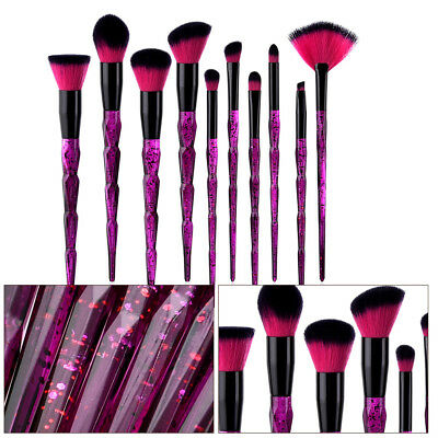 10pcs Pro Makeup Brushes Set Kabuki Foundation Powder Eyeliner Eyeshadow Brush B