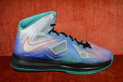 sports shoes 804ab bc5a9 CLEAN Nike Air Max Lebron X 10 Pure Platinum Sneakers Men's Size 11  541100-008