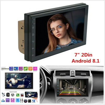 """7""""Android 8.1 Quad-Core 2Din Car GPS Nav Stereo Radio Wifi 3G 4G Mirror Link OBD"""