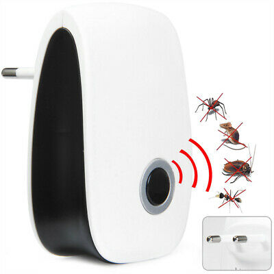 2 Ultrasonic Electronic Pest Repeller Reject Mosquito Rodent Insect Bed Bug Mice