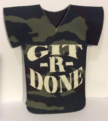 Larry The Cable Guy Beer Koozie Git R Done Booze Dad Man Cave Novelty Comedy